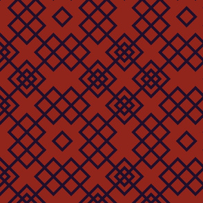 Trellis red and black