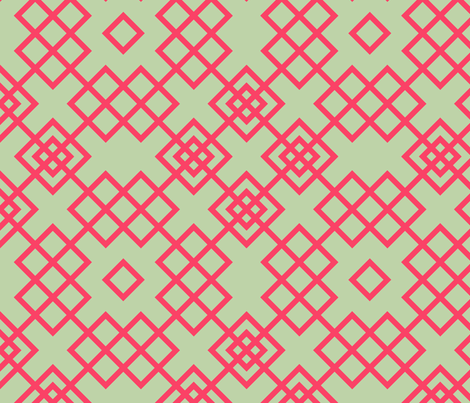 trellis red and grey fabric by ravynka on Spoonflower - custom fabric