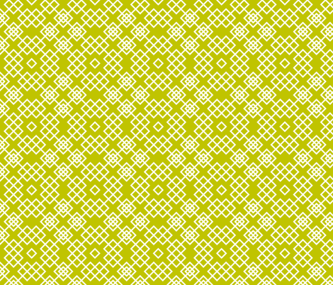 trellis green and white fabric by ravynka on Spoonflower - custom fabric