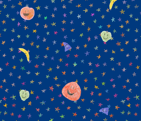 fruit planets fabric by chickie on Spoonflower - custom fabric