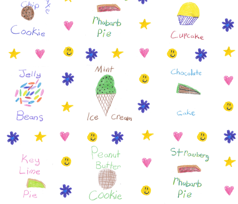 Just Desserts fabric by chickie on Spoonflower - custom fabric