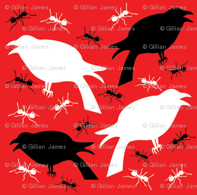 Crows and Ants- Red and Black
