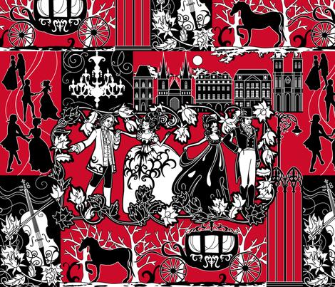 Midnight Ball fabric by jillianmorris on Spoonflower - custom fabric
