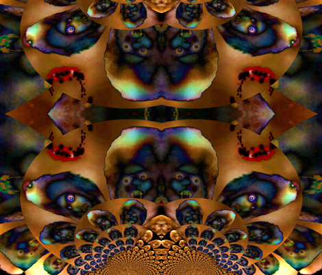 Psychedelic Vampires fabric by paragonstudios on Spoonflower - custom fabric