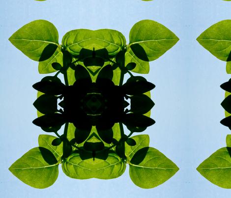 plant and sky fabric by emmaleeerose on Spoonflower - custom fabric