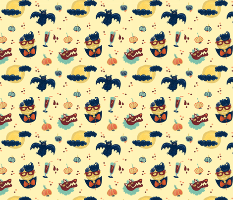 Vampires & Wolves fabric by teken-ing on Spoonflower - custom fabric