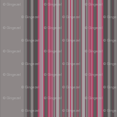 Grey Zones Stripe in Cherry Quartz © 2009 Gingezel™ Inc.