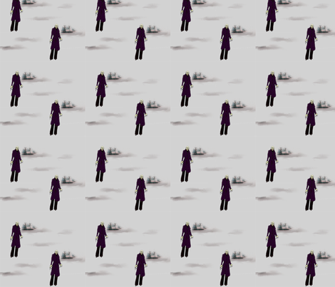 Nosferatu on the Sea fabric by crafty_mcgee on Spoonflower - custom fabric