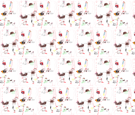 Vampire Animals fabric by eislinn on Spoonflower - custom fabric