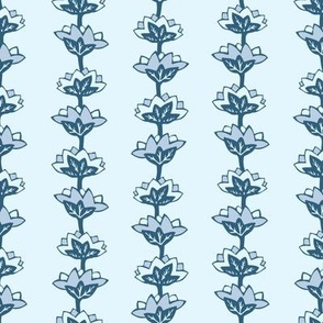 Pond Flowers in Navy