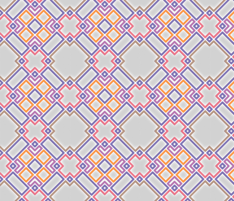 Trellis in technicolor fabric by ravynka on Spoonflower - custom fabric
