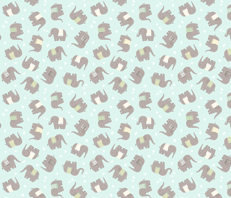 Elephant Tumble fabric by cathyheckstudio on Spoonflower - custom fabric