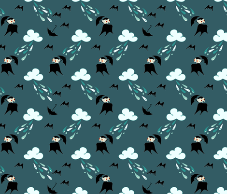 Holy Rain Water (see zoom) fabric by ttoz on Spoonflower - custom fabric