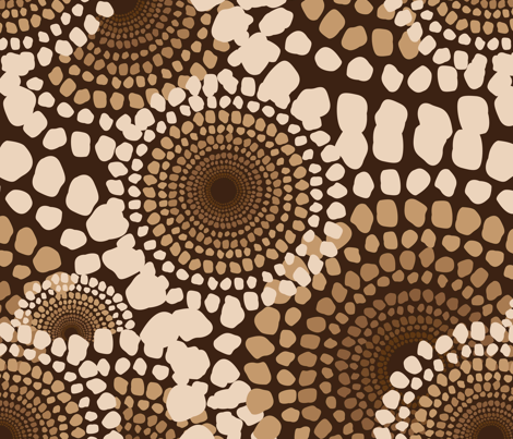 Pile Up Earth fabric by dolphinandcondor on Spoonflower - custom fabric