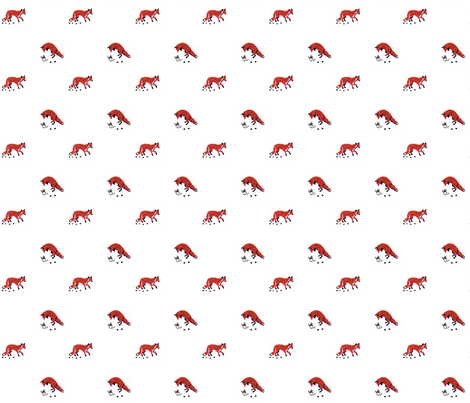Fox in the Snow fabric by crafty_mcgee on Spoonflower - custom fabric