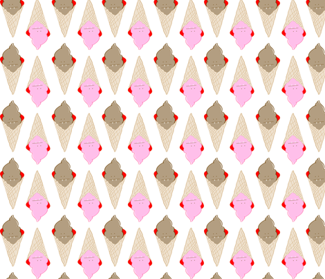 i scream, you scream fabric by nadiahassan on Spoonflower - custom fabric