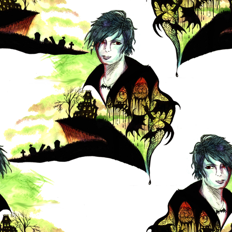 Gackt Vampire fabric by annacole on Spoonflower - custom fabric