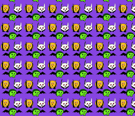 animal vampires fabric by raz_1008 on Spoonflower - custom fabric