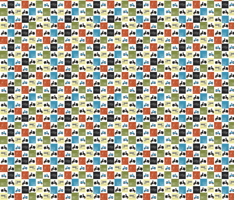 scooters and radios fabric by luluhoo on Spoonflower - custom fabric