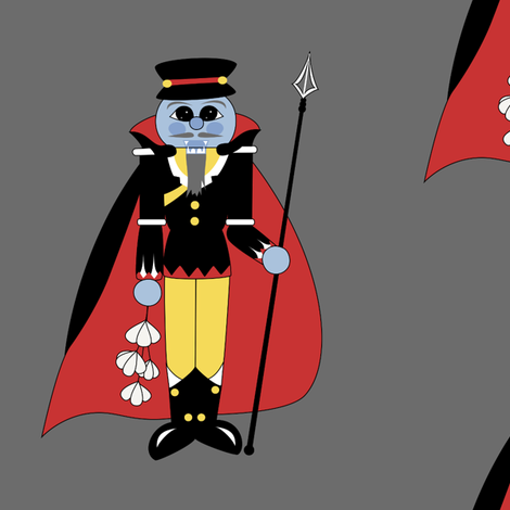 Vampire Guardian Nutcracker fabric by taracrowleythewyrd on Spoonflower - custom fabric