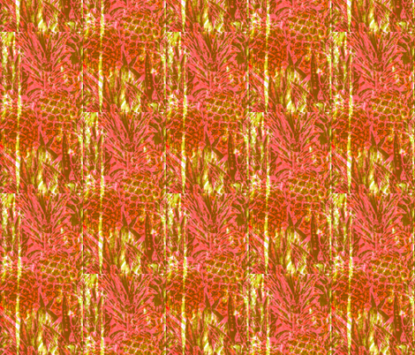 Pineapple Cooler fabric by robin_rice on Spoonflower - custom fabric