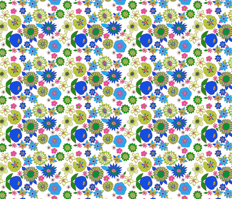 fleur pop S fabric by nadja_petremand on Spoonflower - custom fabric