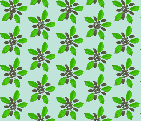 Floral acorns fabric by koffeycakes on Spoonflower - custom fabric
