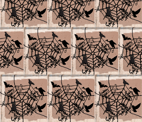 Halloween Web fabric by robin_rice on Spoonflower - custom fabric