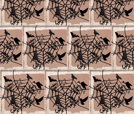 Halloween Web fabric by robin_rice on Spoonflower - custom fabric