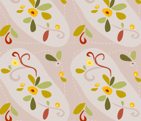 Farmors Floral fabric by carinaenvoldsenharris on Spoonflower - custom fabric