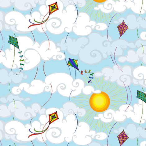 Kite Flight fabric by ceanirminger on Spoonflower - custom fabric