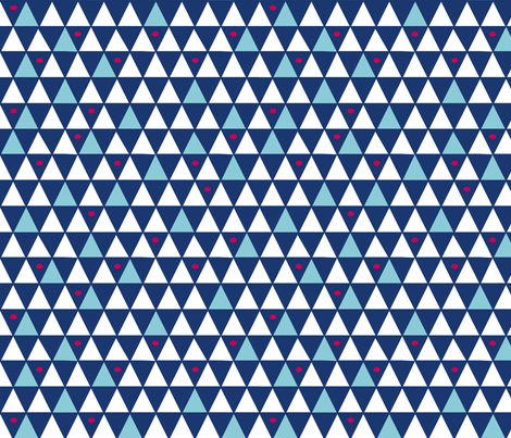 blue diamonds fabric by lola_designs on Spoonflower - custom fabric