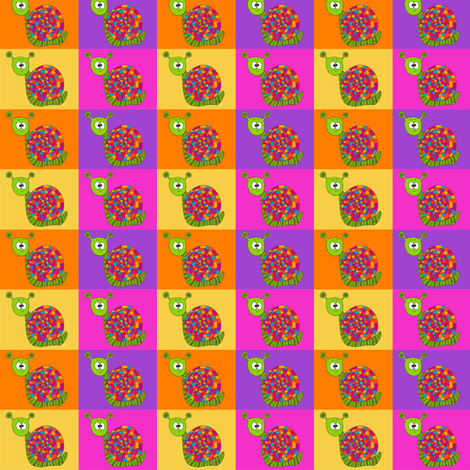CurlyPops - Snail Allsorts fabric by curlypops on Spoonflower - custom fabric