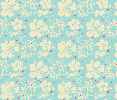 Hawaiian Flowers fabric by plasticity_design on Spoonflower - custom fabric