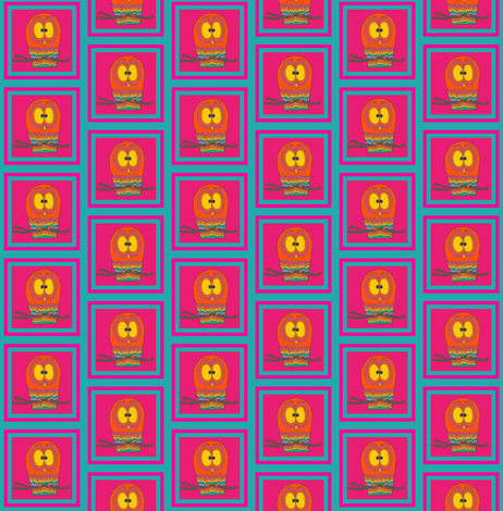 CurlyPops - Owlie Oblong fabric by curlypops on Spoonflower - custom fabric