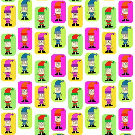 CurlyPops - Technicolour Santa fabric by curlypops on Spoonflower - custom fabric