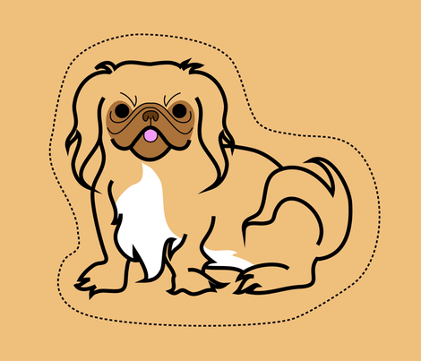 Pekinese fabric by walnut-jelly on Spoonflower - custom fabric