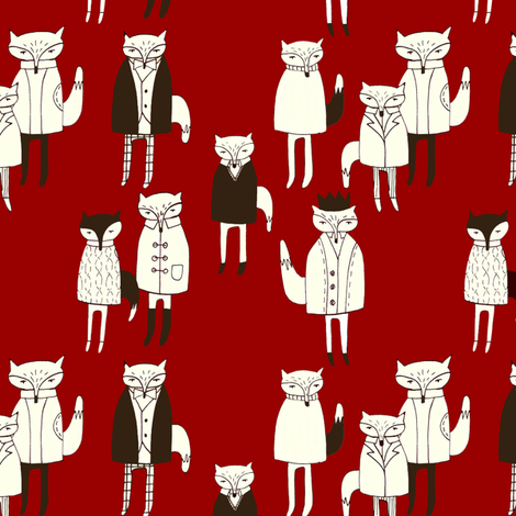 foxesspoon fabric by mummysam on Spoonflower - custom fabric