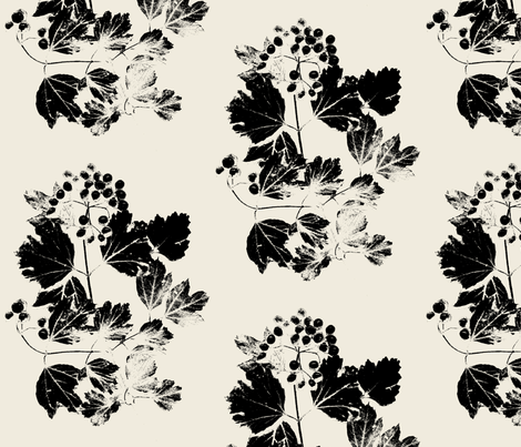 Fancy Viburnum 2 fabric by itaya on Spoonflower - custom fabric