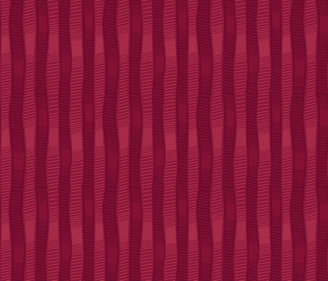 Wiggly Wobbly Reds fabric by wildnotions on Spoonflower - custom fabric