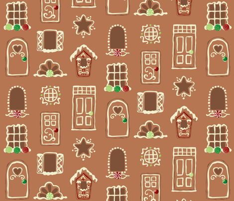 Tasty Doors and Windows Traditional fabric by jillianmorris on Spoonflower - custom fabric