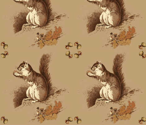 Hazel Squirrel fabric by hauteideas on Spoonflower - custom fabric