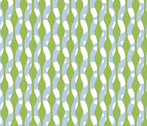 Lava Lamp blue and green fabric by lowa84 on Spoonflower - custom fabric