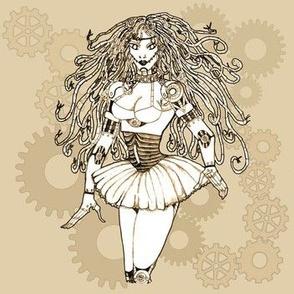 steampunk robotgirl