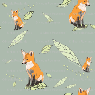 Foxes fabric