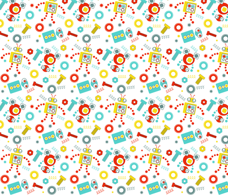 Rudy Robot fabric by eedeedesignstudios on Spoonflower - custom fabric