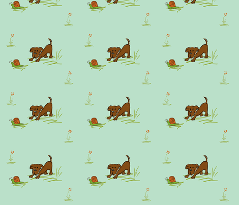 Snails and Tails fabric by namastemama on Spoonflower - custom fabric