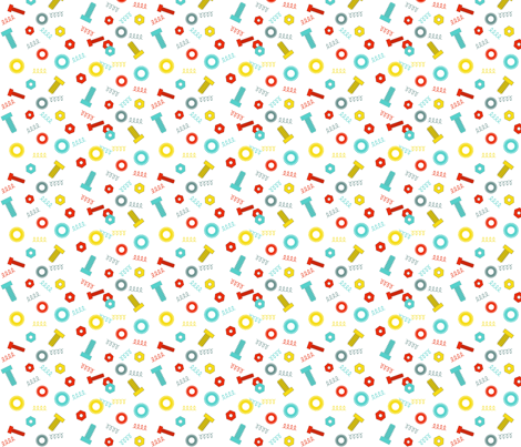 Nuts_and_Bolts fabric by eedeedesignstudios on Spoonflower - custom fabric