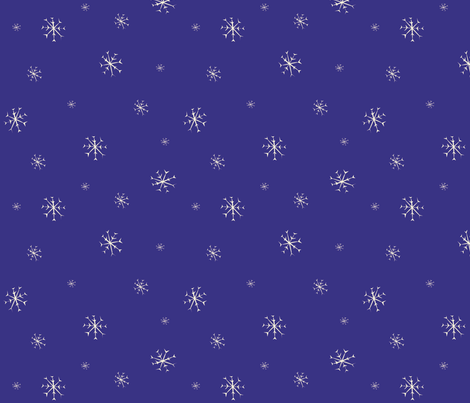 Snowflakes fabric by featheredneststudio on Spoonflower - custom fabric