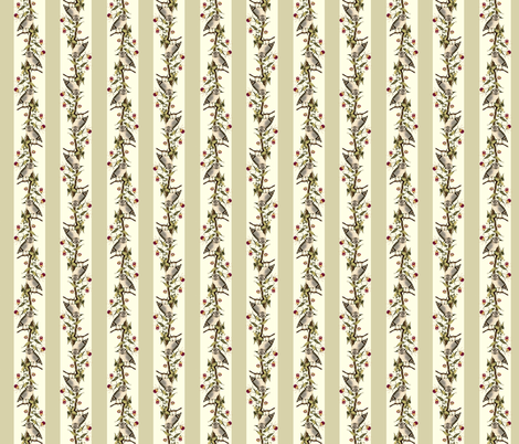 Owl Stripes (Tan) fabric by hauteideas on Spoonflower - custom fabric